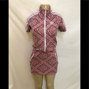 Adidas originals graphic print girls dress 13-14 L
